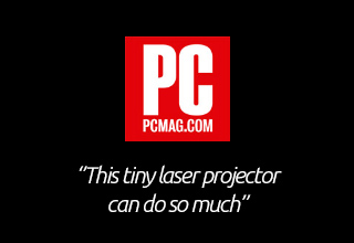 This tiny laser projector can do so much.